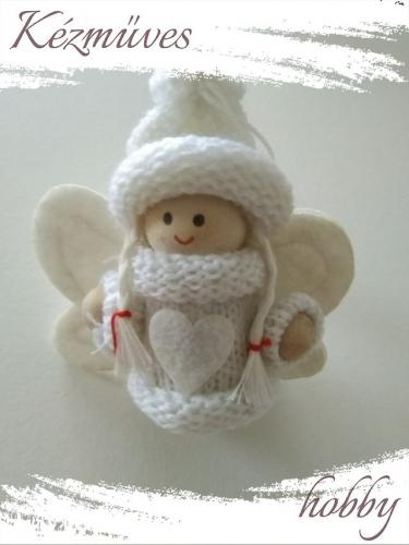 Quilling ajándék - Figurák - Kellékek - Angyalka - Karácsonyi kellékek