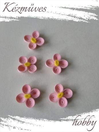 Quilling ajándék - Virágfejek - Apró - virágfejek