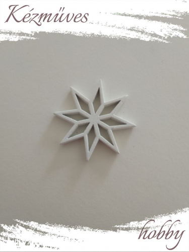 Quilling ajándék - Csillag, hópihe - Kellékek - Csillag hópehely - Karácsonyi kellékek