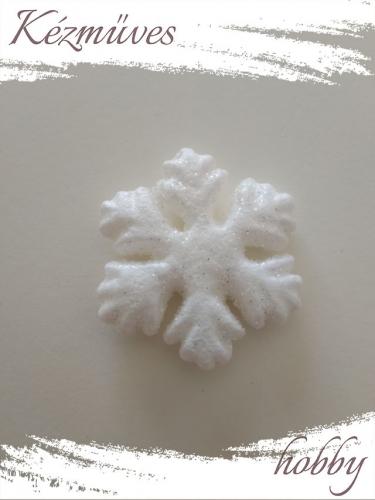 Quilling ajándék - Csillag, hópihe - Kellékek - Csillámló hópihe - Karácsonyi kellékek