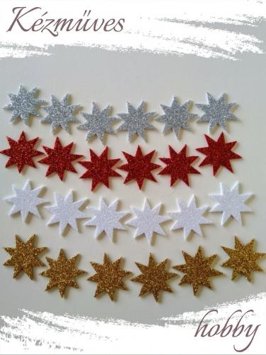 Quilling ajándék - Csillag, hópihe - Kellékek - Csillogó csillag dekorgumiból - Karácsonyi kellékek