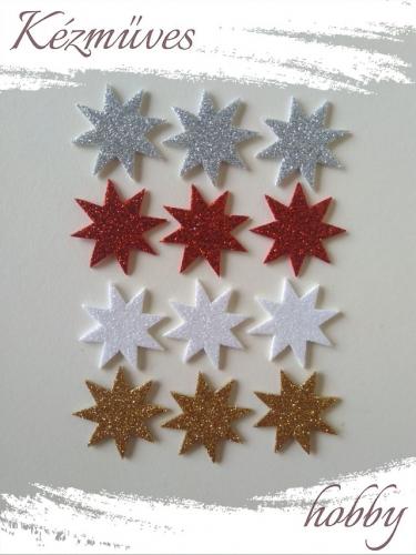 Quilling ajándék - Csillag, hópihe - Kellékek - Csillogó csillag dekorgumiból  Vegyes- Karácsonyi kellékek