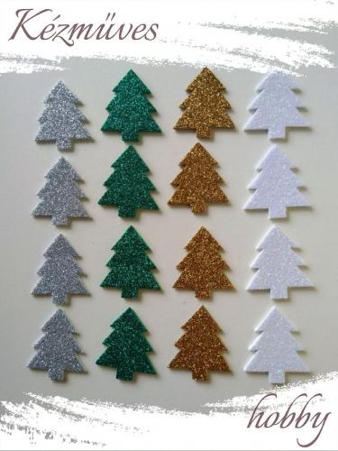 Quilling ajándék - Csillag, hópihe - Kellékek - Csillogó fenyő dekorgumiból - Karácsonyi kellékek