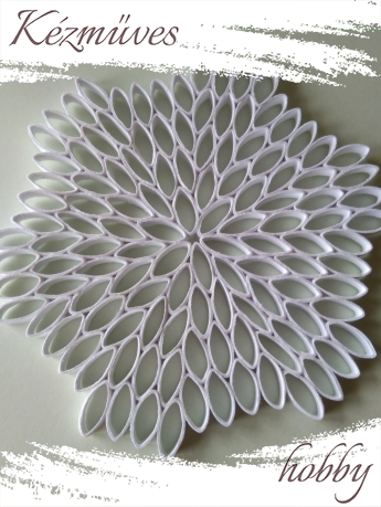 Quilling ajándék -  - Fehér dekor alap -kellékek