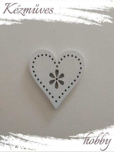 Quilling ajándék - Lézer vágott fa táblák - Kellékek - Fehér szív (kicsi) - Lézer vágott fa táblák