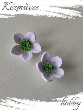 Quilling ajándék - Virágfejek - Fehér-zöld - virágfejek