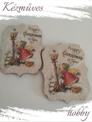 Quilling ajándék - Karácsony, Tél - Hűtőmágnes - Happy Christmas to You - Karácsonyi hűtőmágnes