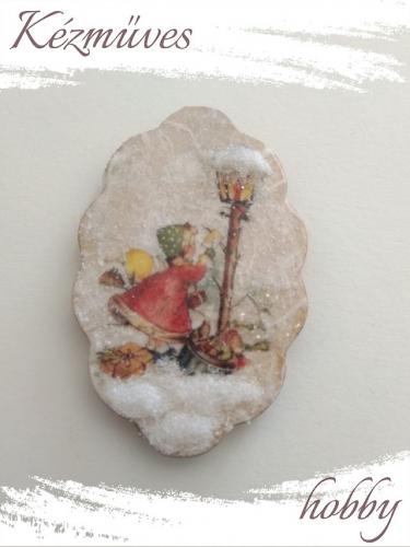 Quilling ajándék - Karácsony, Tél - Hűtőmágnes - Happy Christmas to You (kicsi) - Karácsonyi hűtőmágnes