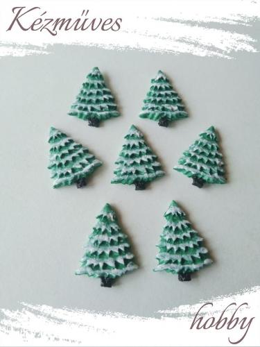 Quilling ajándék - Figurák - Kellékek - Havas fenyő  - Karácsonyi kellékek