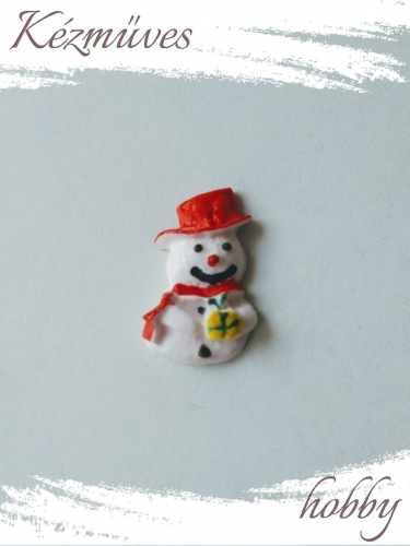 Quilling ajándék - Figurák - Kellékek - Hóember - Karácsonyi kellékek