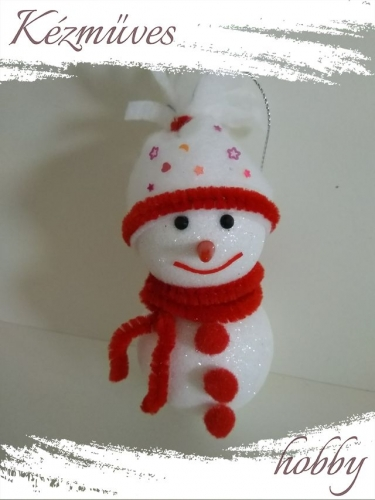 Quilling ajándék - Karácsonyfa dísz - Hóember - Karácsonyfa dísz