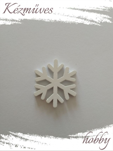 Quilling ajándék - Csillag, hópihe - Kellékek - Hópihe fa dekor - Karácsonyi kellékek