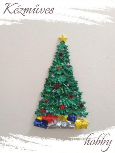 Quilling ajándék - Figurák - Kellékek - Karácsonyfa - Karácsonyi kellékek