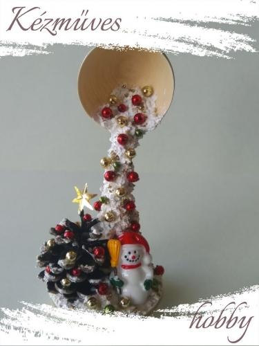 Quilling ajándék - Karácsonyi asztaldísz - Varázslat (fehér-bézs) - Karácsonyi asztaldísz