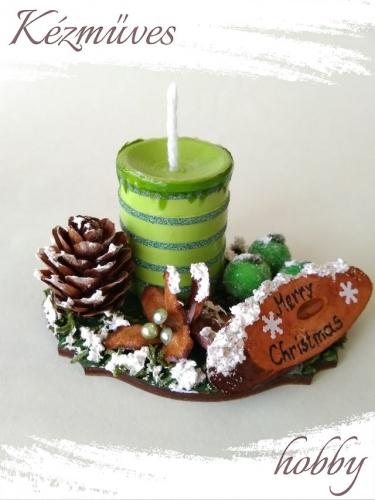 Quilling ajándék - Karácsonyi asztaldísz - Merry Christmas - Karácsonyi asztaldísz