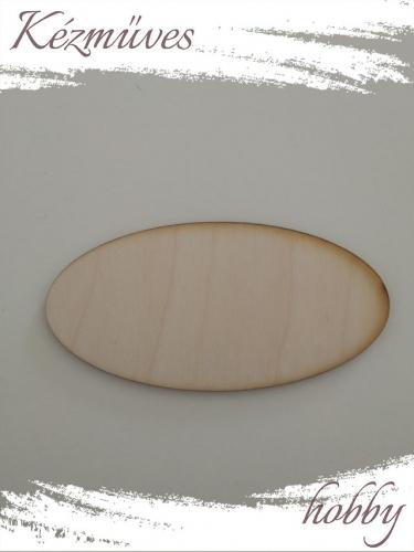 Quilling ajándék - Lézer vágott fa táblák - Kellékek - Natúr ovál tábla (nagy) - Lézer vágott fa táblák
