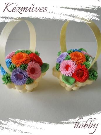 Quilling ajándék - Cserepes kisvirágok - Nyári kavalkád - Quilling Cserepes kisvirágok