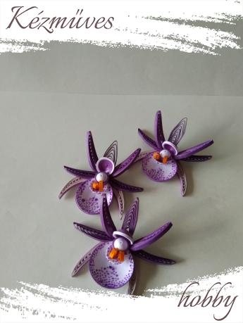 Quilling ajándék - Virágfejek - Orchidea - virágfejek