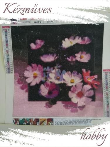 Quilling ajándék - Gyémántfestés - Pillangóvirág - Gyémántfestés