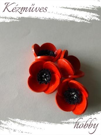 Quilling ajándék - Virágfejek - Pipacs - virágfejek