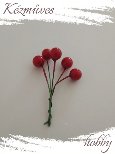 Quilling ajándék - Bogyók - Kellékek - Piros bogyó - Karácsonyi kellékek
