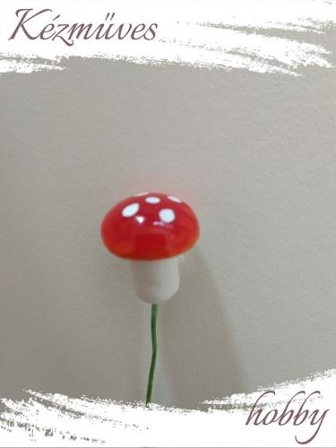 Quilling ajándék - Gombák - Kellékek - Piros gomba (közepes) - Karácsonyi kellékek