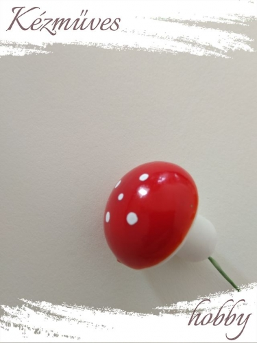 Quilling ajándék - Gombák - Kellékek - Piros gomba (nagy) - Karácsonyi kellékek