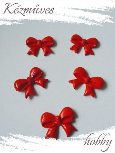 Quilling ajándék -  - Piros masni -kellékek