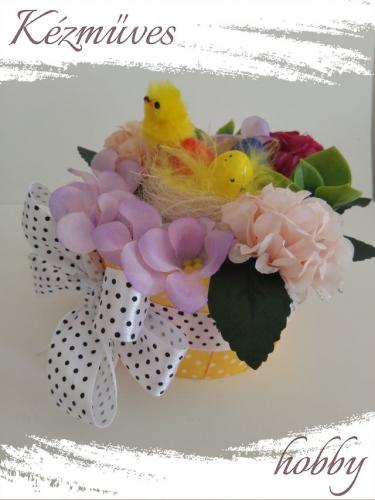 Quilling ajándék - Húsvét - Pöttyös masnis - Húsvét