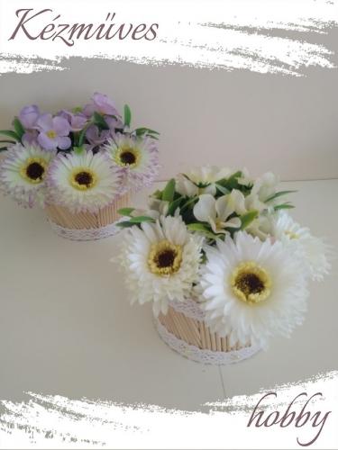 Quilling ajándék - Virágdoboz - Százszorszép - Virágdoboz
