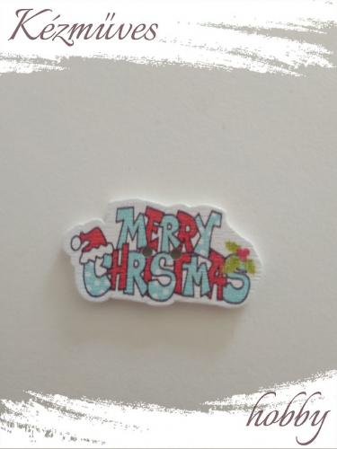 Quilling ajándék - Dekor gomb - Kellékek - Színes Merry Christmas gomb - Kellékek