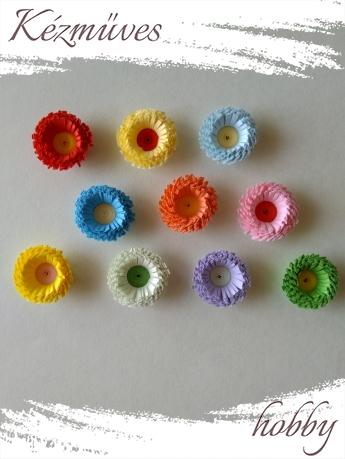 Quilling ajándék - Virágfejek - Szín kavalkád - virágfejek