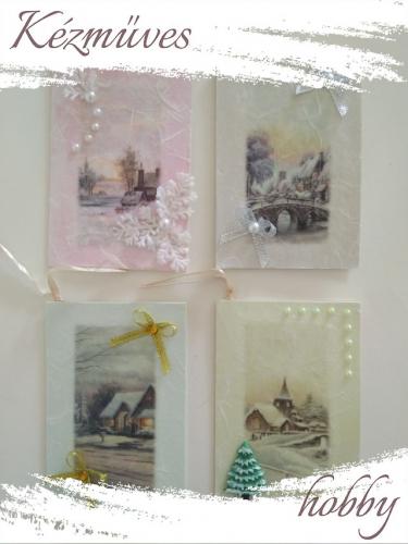 Quilling ajándék - Karácsonyi üdvözlőkártyák - Üdvözlőkártyák - Karácsonyi Üdvözlőkártyák