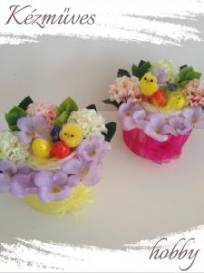 Quilling ajándék - Ünnepek - Csibe kosár - Húsvét
