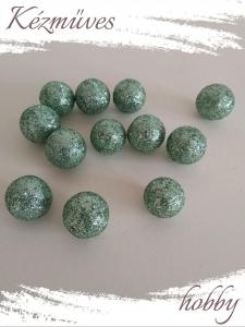 Quilling ajándék - Bogyók - Kellékek - Csillámos bogyó (zöld) - Karácsonyi kellékek