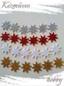 Quilling ajándék - Kellékek - Csillogó csillag dekorgumiból - Karácsonyi kellékek