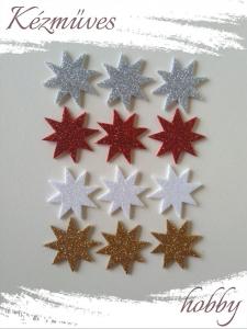 Quilling ajándék - Kellékek - Csillogó csillag dekorgumiból  Vegyes- Karácsonyi kellékek
