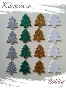 Quilling ajándék - Kellékek - Csillogó fenyő dekorgumiból - Karácsonyi kellékek