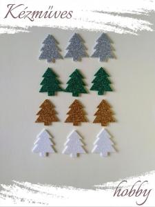 Quilling ajándék - Kellékek - Csillogó fenyő dekorgumiból Vegyes- Karácsonyi kellékek