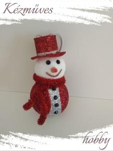 Quilling ajándék - Karácsonyfa dísz - Csillogó hóemberkék (fiúk) - Karácsonyfa dísz
