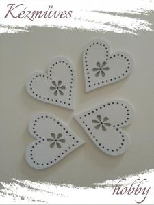 Quilling ajándék - Lézer vágott fa táblák - Kellékek - Fehér szív (közepes) - Lézer vágott fa táblák