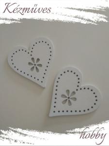 Quilling ajándék - Lézer vágott fa táblák - Kellékek - Fehér szív (nagy) - Lézer vágott fa táblák