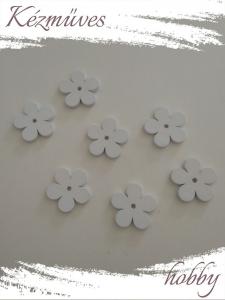 Quilling ajándék - Kellékek - Fehér virág - Lézer vágott fa táblák