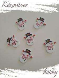 Quilling ajándék - Dekor gomb - Kellékek - Hóember - Kellékek