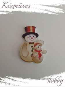 Quilling ajándék - Dekor gomb - Kellékek - Hóember dekor - Kellékek