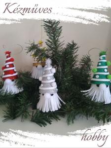 Quilling ajándék - Karácsonyfa dísz - Csillogó karácsonyi Orrmanó - Karácsonyfa dísz