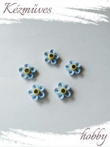 Quilling ajándék - Quilling termékek - Kék nefelejcs - virágfejek
