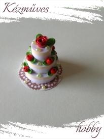 Quilling ajándék - Quilling termékek - Klasszikus emeletes torta