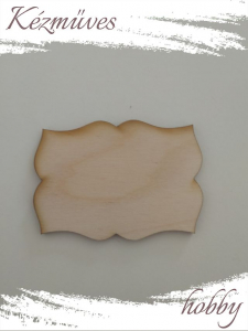 Quilling ajándék - Kellékek - Különleges forma 6 - Lézer vágott fa táblák