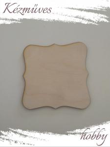 Quilling ajándék - Kellékek - Natúr alátét - Lézer vágott fa táblák